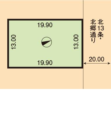 住宅向き整形地78.26坪! 解体更地渡し!