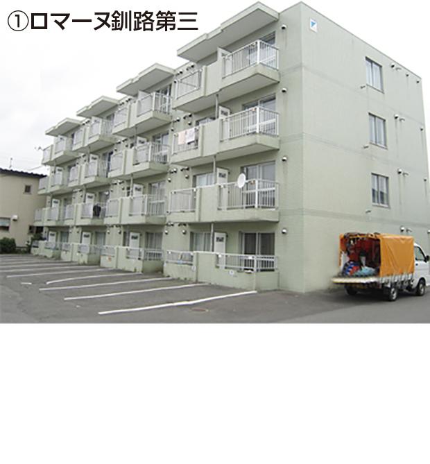 釧路市①住之江8-1・2 ②治水町6-50