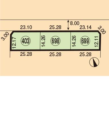美唄市東6条南2丁目1451-403、698、699